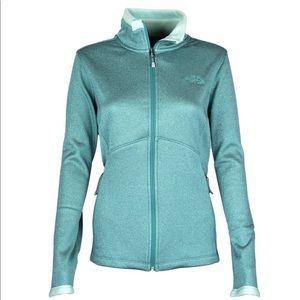 The North Face Agave Full Zip Fleece Jacket Green